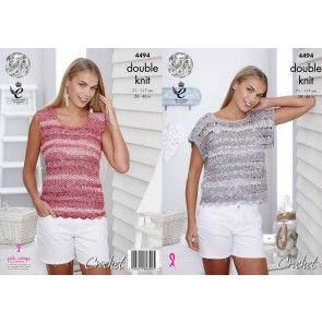 T-Shirt and Vest Top in King Cole Vogue DK (4494)