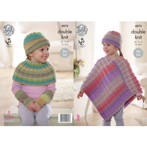 Poncho and Accessories in King Cole Sprite DK (4575)