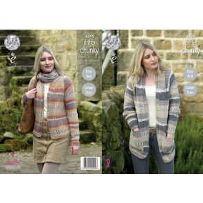 Cardigans in King Cole Drifter Chunky (4599)