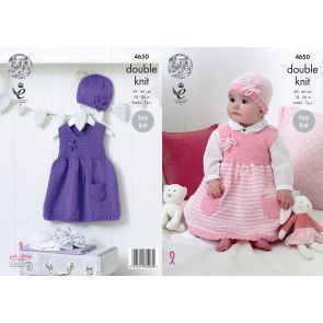 Dresses and Hats in King Cole Cherished DK (4650)