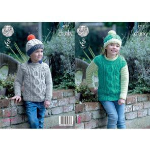 Sweaters and Hats in King Cole Comfort Chunky (4717)