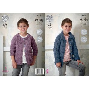 Jackets in King Cole New Magnum Chunky (4719)