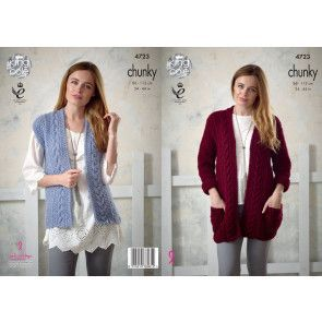 Jacket and Waistcoat in King Cole New Magnum Chunky (4723)