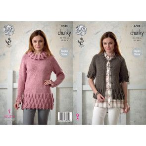 Tunic and Cardigan in King Cole New Magnum Chunky (4724)