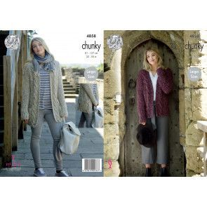 Ladies' Jacket and Cardigan in King Cole Indulge Chunky (4858)
