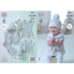 Baby Set in King Cole Cherish Dash DK and Cherished DK (4897)
