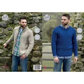 Sweater and Jacket in King Cole Majestic DK (4925)