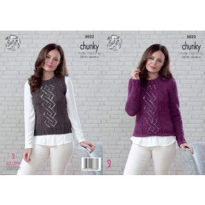 Sweater and Slipover in King Cole Magnum Chunky (5032)