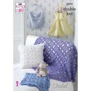 Blankets, Cushion and Bags in King Cole Cottonsoft DK (5073)