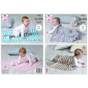 Blankets in King Cole Cottonsoft Baby Crush DK (5101)