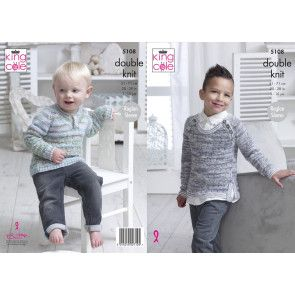 Sweaters in King Cole Comfort Kids and Comfort DK (5108)