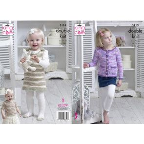 Cardigan, Top and Dress in King Cole Comfort Kids and Comfort DK (5113)
