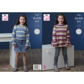 Sweater and Dress in King Cole Splash DK (5164)