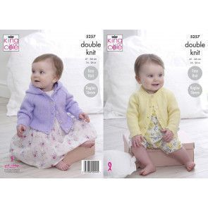 Cardigans in King Cole Big Value Baby DK 50g (5257)