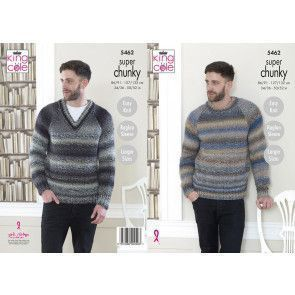 Sweaters in King Cole Explorer Super Chunky (5462)