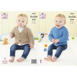 Sweater and Jacket in King Cole Big Value Baby DK 50g (5472)