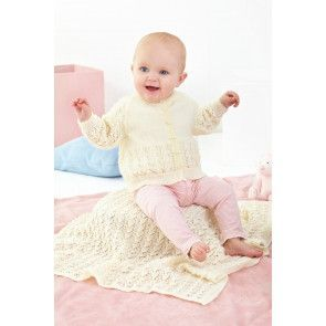 Cardigan and Blanket in King Cole Big Value Baby 3 Ply (5508)