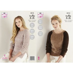 Sweater and Tunic in King Cole Truffle (5514)