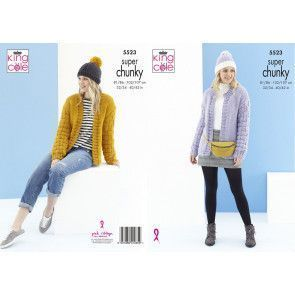 Cardigans and Hats in King Cole Timeless Super Chunky (5523)