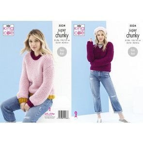 Sweaters in King Cole Timeless Super Chunky (5524)