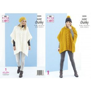 Ponchos and Hat in King Cole Timeless Super Chunky (5525)