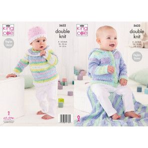 Baby Set in King Cole Cottonsoft Baby Crush DK (5632)