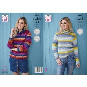 Sweaters in King Cole Bramble DK (5647)