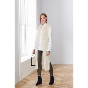 Waistcoat and Jacket in King Cole Forest Aran (5656)