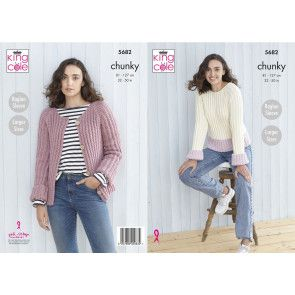 Sweater and Cardigan in King Cole Subtle Drifter Chunky (5682)