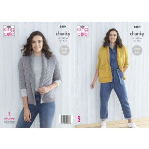 Cardigans in King Cole Subtle Drifter Chunky (5684)