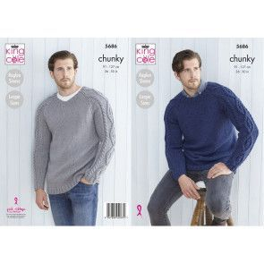 Sweaters in King Cole Subtle Drifter Chunky (5686)