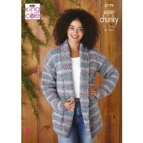Jacket and Sweater in King Cole Christmas Super Chunky (5779)