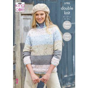 Sweaters in King Cole Homespun DK (5795)
