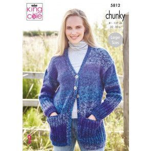 Cardigans in King Cole Autumn Chunky (5812)