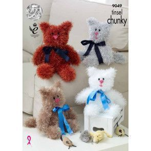 Cats in King Cole Tinsel Chunky (9049)
