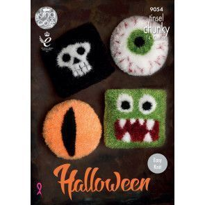 Halloween Cushions in King Cole Tinsel Chunky (9054)