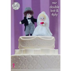 Cake Toppers in King Cole Dollymix DK, Moments and Big Value Baby 4 Ply (9067)