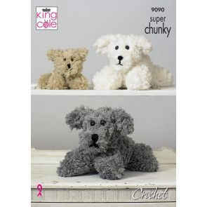 Dog Family knitted in King Cole Tufty (9090)