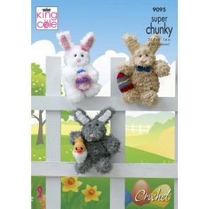 Easter Bunnies in King Cole Tufty (9095)