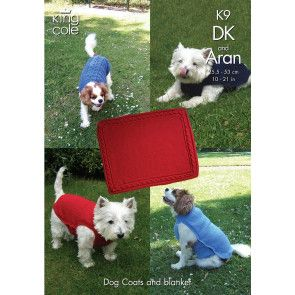 Dog Coats and Blankets knitted in King Cole Big Value DK and Big Value Aran (K9)