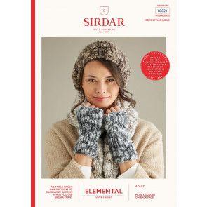 Scarf, Hat and Wrist Warmers in Sirdar Elemental (10021)