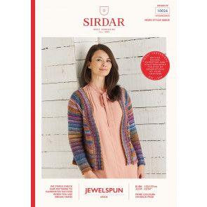 Cardigan Knitted in Sirdar Jewelspun (10026)