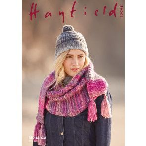 Hat and Scarf in Hayfield Bonanza (10048)