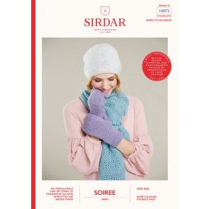 Scarf, Hat and Mittens in Sirdar Soiree (10072)