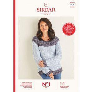 Sweater in Sirdar No.1 Stonewashed Aran (10106)