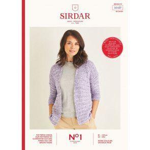 Cardigan knitted in Sirdar No.1 Stonewashed Aran (10107)