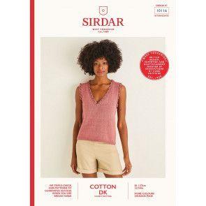 Vest in Sirdar Cotton DK (10116)