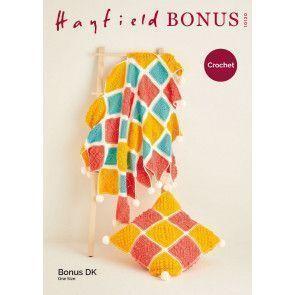 Blanket and Cushion in Hayfield Bonus DK (10120)