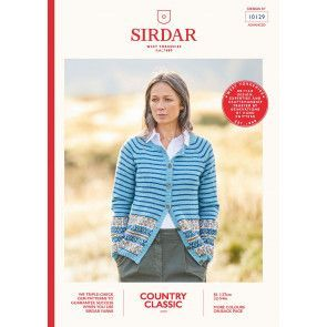 Cardigan In Sirdar Country Classic 4 Ply (10129)