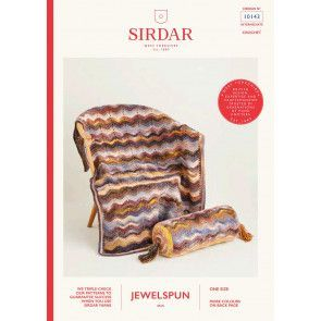 Blanket and Cushion in Sirdar Jewelspun (10143)